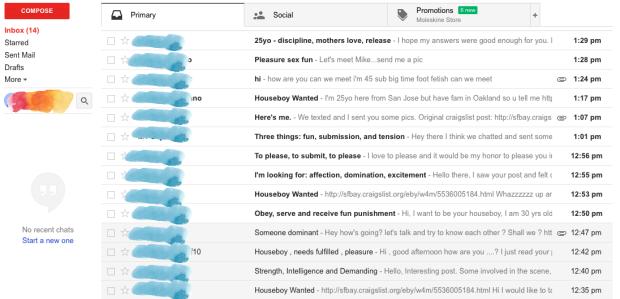 Houseboy emails